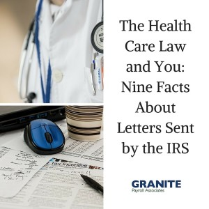The Health Care Law and You- Nine Facts About Letters Sent by the IRS