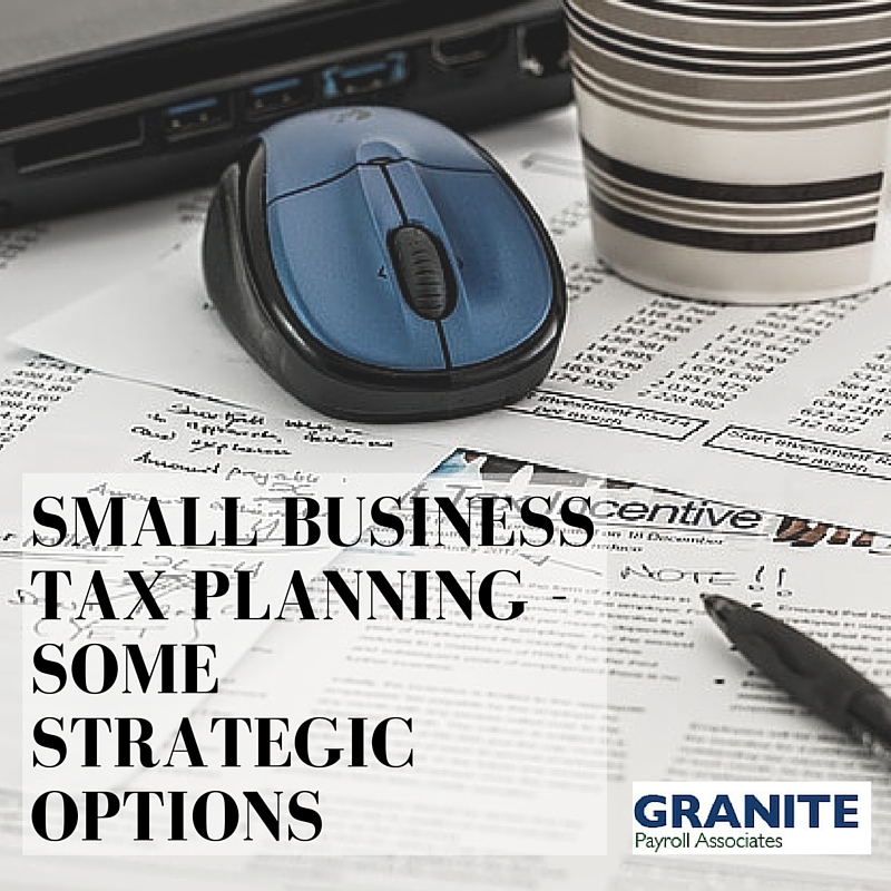 tax planning for small business 2013